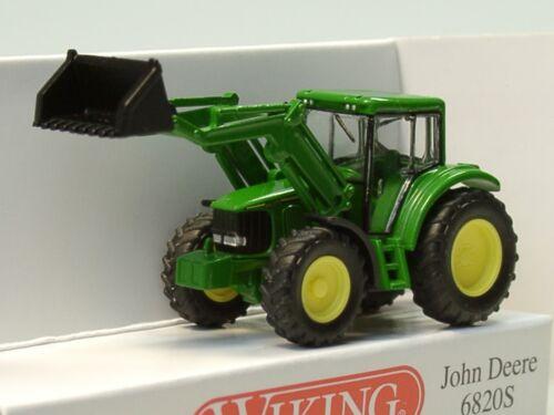 Wiking John Deere 6820s con cargador frontal 0958 38-1:160