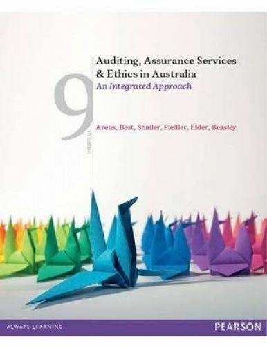 1 of 1 - Auditing, Assurance Services and Ethics in Australia: An integrated approach by…