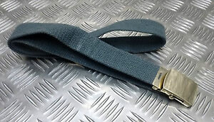 Genuine-British-RAF-No2-Trousers-Belt-1-034-Roll-Buckle-RAF-Blue-Grey-Grade-2