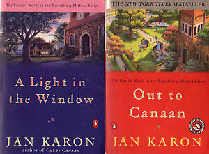 Complete-Set-Series-Lot-of-14-Mitford-by-Jan-Karon-Fiction-Father-Tim-At-Home-in