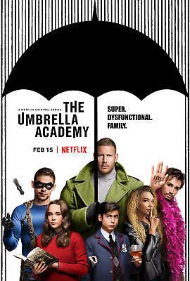 The Umbrella Academy Print New Art TV Series Custom Fabric Poster 24x36 27x40in