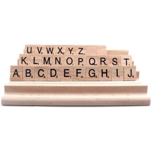 GB 4 Pièces Bois Scrabble Carreau Rack Pièce de Rechange Support Lettre Set