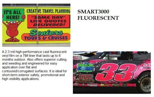 """24/"""" X 10 YDS SMART3000 FLUORESCENT SIGN VINYL CRAFT HOBBY RACE CAR PINSTRIPE"""