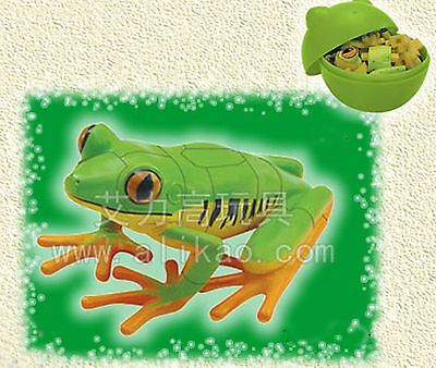 4D Animal Puzzle Toy Assembly Tree Frogs A in Egg #B-83