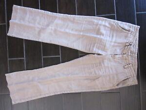 Lucky-Brand-Woman-039-s-Linen-Pants-Size-10-30-Regular-Khaki-Wide-Leg-Flare-Trouser