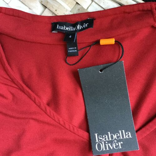 V Oliver Neck 4 Size Ruched Dress 10 Isabella Us Stretch Maternity Womens WYcZw0Yqpd