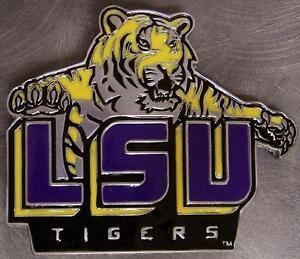 NCAA-Pewter-Belt-Buckle-Louisiana-State-University-LSU-Tigers-NEW