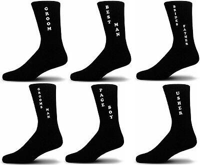 Black Luxury Cotton Rich Vertical Design Wedding Socks, Groom, Best Man, Usher