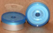20mm Aluminum Plain Flip Top Serum Vial Seals Blue Clear Qty 100