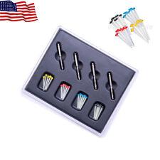 20pcs Easyisnmile Dental Quartz Fiber Post Endo Resin Glass Screw Pile 4 Drills