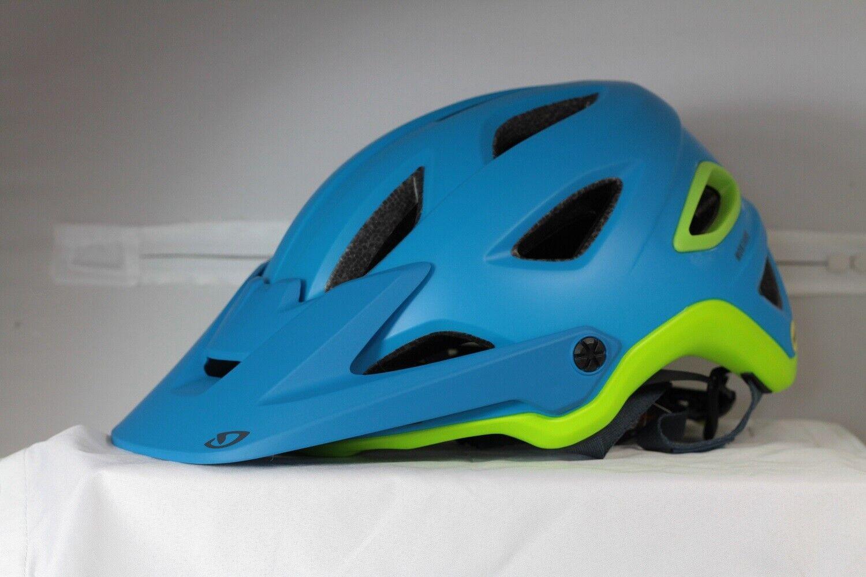 Giro Montaro MIPS Casco de Bicicleta de Montaña-Azul Mate cal, Pequeño (51-55cm)