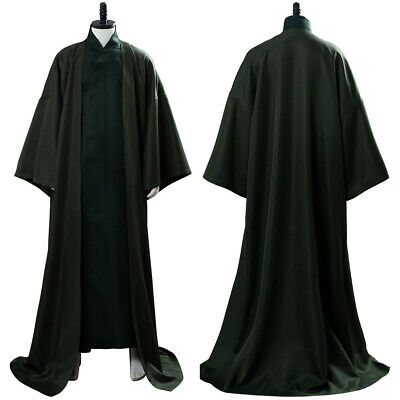 Details about  /Lord Voldemort Cosplay Costume Suit Green Uniform Cloak Robe Outfit