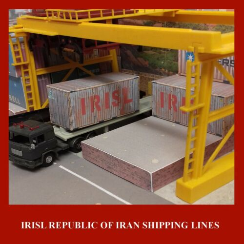 HO Gauge Rail freight Shipping Containers Pre-Weathered Maersk Hapag MOL