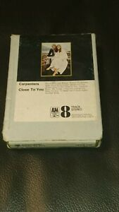 Vintage-8-Track-Cassette-Cartridge-Eight-carpenters-close-to-you