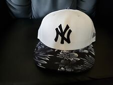 NEW ERA 8FIFTY SNAPBACK NEW YORK WHITE-TROPICAL GREY BASEBALL CAP S/M
