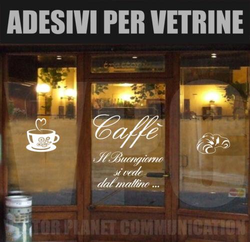 wall stickers tazza bar caffe/' caffè vetrofanie cornetto adesivi vetrine muri