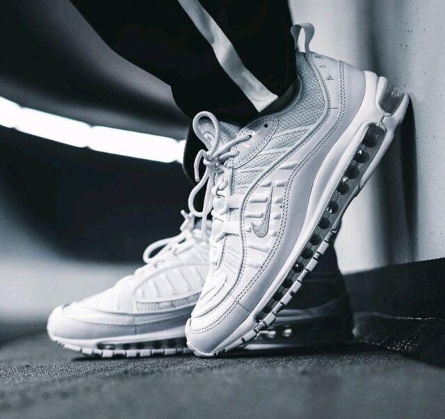 Nike Air Max 98 Triple White Mens Trainers Size Uk8 Eur42.5 ...