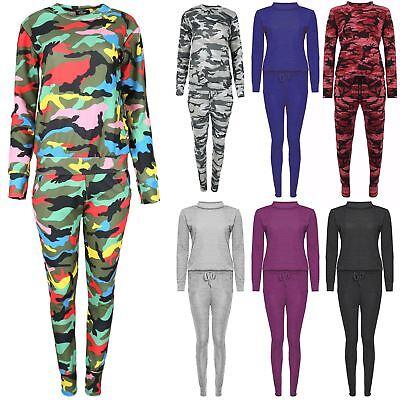 UnermüDlich Children Army Print Round Neck Long Sleeve Top Kids Tracksuit Jogsuit Loungewear