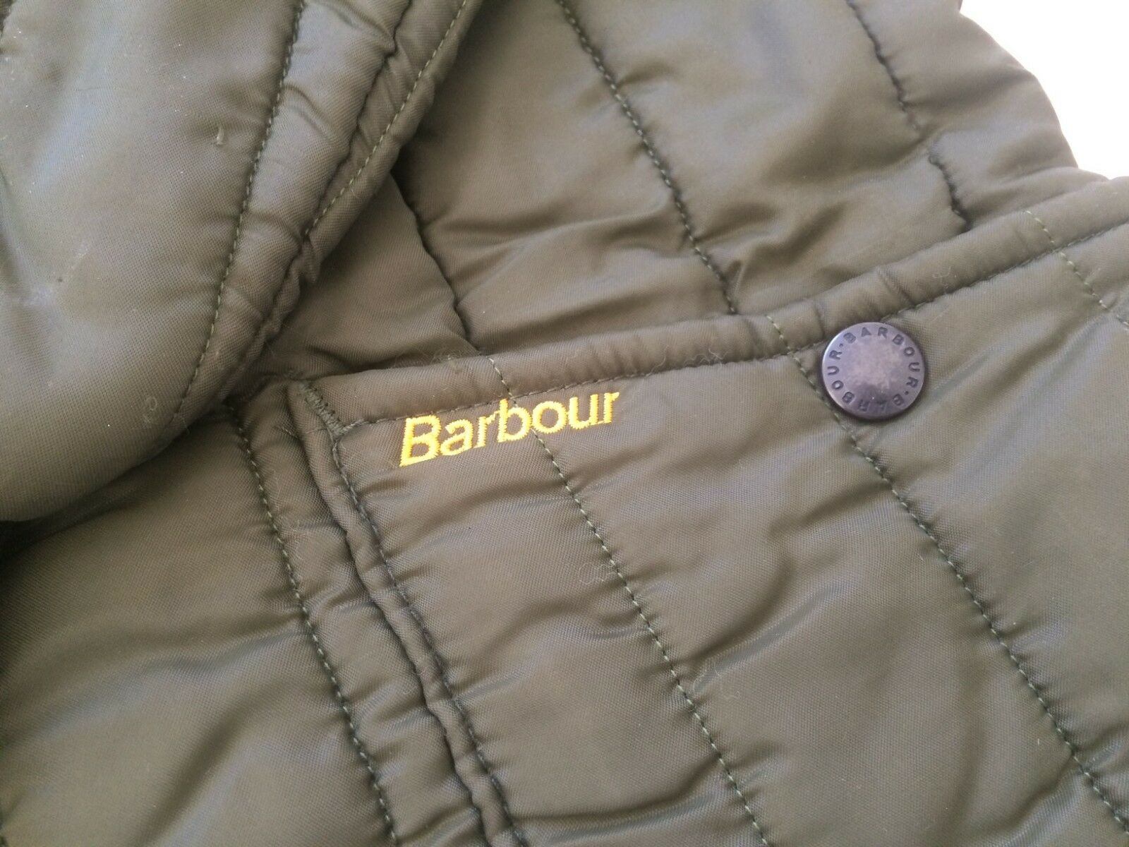 Rare BARBOUR Vintage Men Hunt Quilted Puffer Down… - image 3