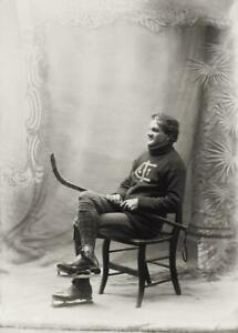 Antique-Photo-Hockey-Player-Studio-Photo-Photo-Print-5x7