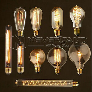 ampoule filament carbone e27 40w vintage edison incandescence r tro lampe 220v ebay. Black Bedroom Furniture Sets. Home Design Ideas