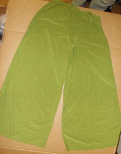 NWT Slinky Lycra Olive Palazzo Wide Leg Pants Girls//Ldies szs Praisewear Lyrical