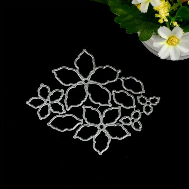 8pcs Flower Set Metal Cutting Dies For DIY Scrapbooking Album Paper Cards  BR