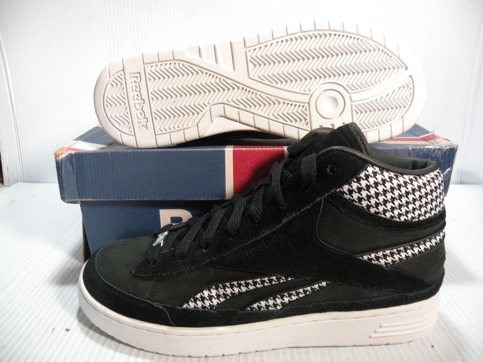 REEBOK CLASSIC BEMO Mid Tenis Hombres Zapatos JPE 4-121071 Negro blancoo Talla 9.5 Nuevo