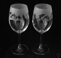 Dolphin gift Wine Glasses classic tulip shape..Boxed