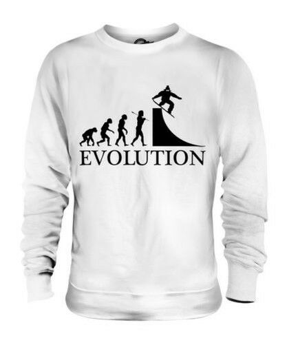 FREE SNOWBOARDER EVOLUTION OF MAN UNISEX SWEATER  Herren LADIES GIFT SNOWBOARDING