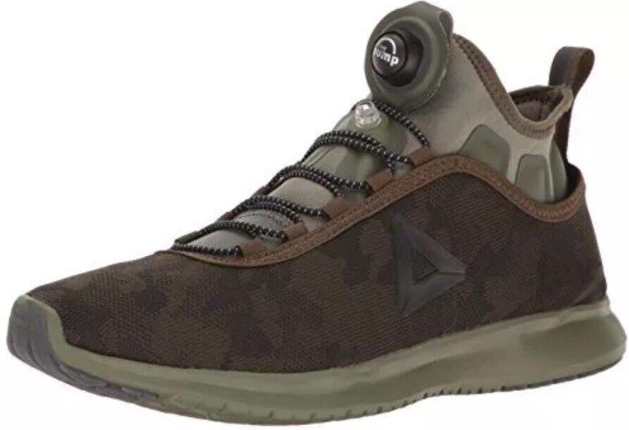 Brand New Men's Reebok Pump Plus Hunter Green Camo Running Shoes  BD4937 - SZ 9
