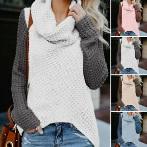 Women-039-s-Long-Sleeve-Knitted-Sweater-Jumper-Cardigan-Knitwear-Winter-Pullover-Top