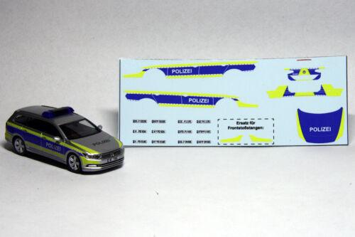 Decals 1:87 H0 Polizei Niedersachsen VW Passat Variant B8 GTE,für Herpa Eigenbau
