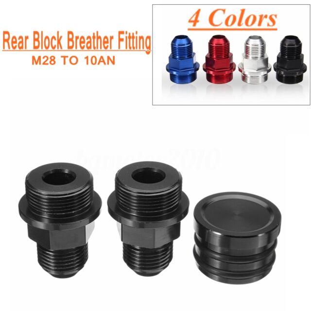Black Rear Block Breather Plug Fittings Fit Honda Integra