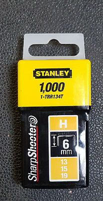Tools & Workshop Equipment Power Tools Steady Stanley 1-trr134t Graffette Tipo H 13/15/19 6 Mm 1000 Pezzi Trr134t Comfortable Feel