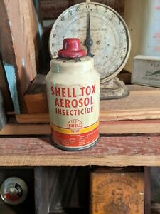 Vintage Shell Oil Shell Tox Insecticide Can