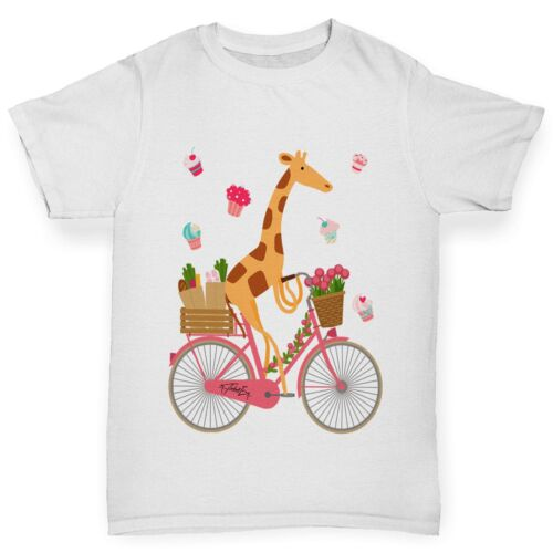 Twisted ENVY Boy/'s Feliz Girafa Andando De Bicicleta T-shirt
