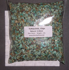 TURQUOISE Chips Natural 4-10mm rough 2 lb xmini bulk stones Mexico SAVE 20%
