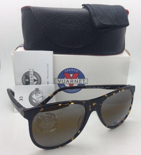 863e30456ad3 New VUARNET Sunglasses VL 1520 0002 Tortoise Frames with SkiLynx Mirrored  Glass