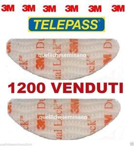 2-pezzi-3m-DUAL-LOCK-BI-ADESIVO-adesivi-per-telepass-ORIGINALi-SJ3560-sagomati