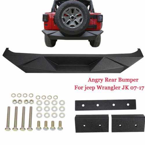 New Rock Crawler Rear Bumper For 2007-2018 Jeep Wrangler JK US Stock