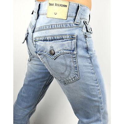 True Religion Men's Stretch Ricky Relaxed Straight Light Energy Jeans - 101741