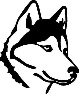 Husky Outline Vinyl Decal Sticker Cute Animal Dog Family