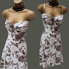Karen Millen Avorio FANTASY GIARDINI Floreale Uccello Stampa Estate CLESSIDRA DRESS 8 UK