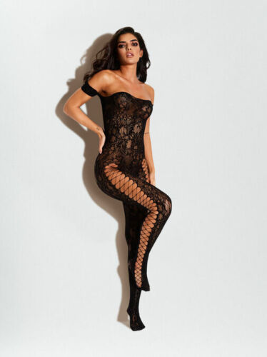 tailles S//M /& L//XL Ann Summers le commandant entrejambe Body Stocking