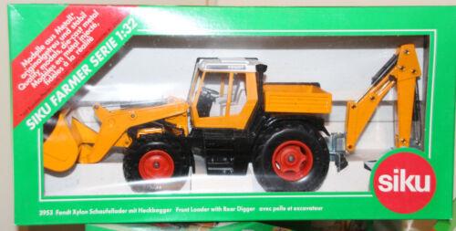 Siku 3953 Fendt Xylon cargador pala con retroexcavadora Orange 1:32 de colección