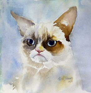 Grumpy-Cat-Watercolor-Original-Painting-by-Terri-Shows