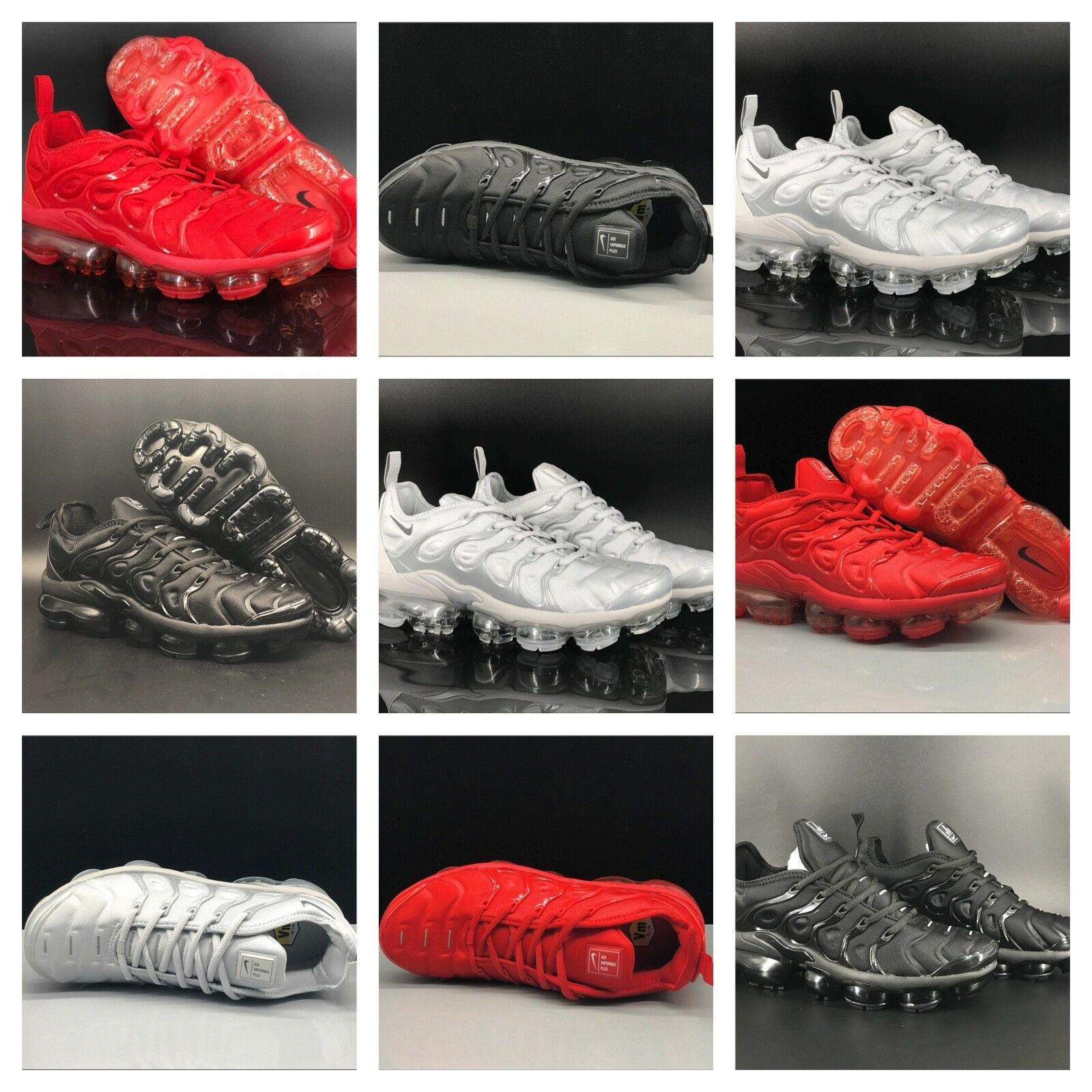 NIKE 2018 TN Air Vapormax Plus | Black, Light Grey & Red |  best-selling model of the brand