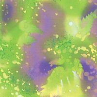 Benartex Fossil Fern Watercolor Style Blender Fabric Lime 528b-63 Bty