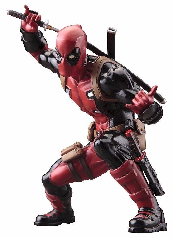 Artfax + Deadpool  Marvel Now  1 10 PVC Statuetta Kotobukiya Nuovo da Giappone  risposta prima volta